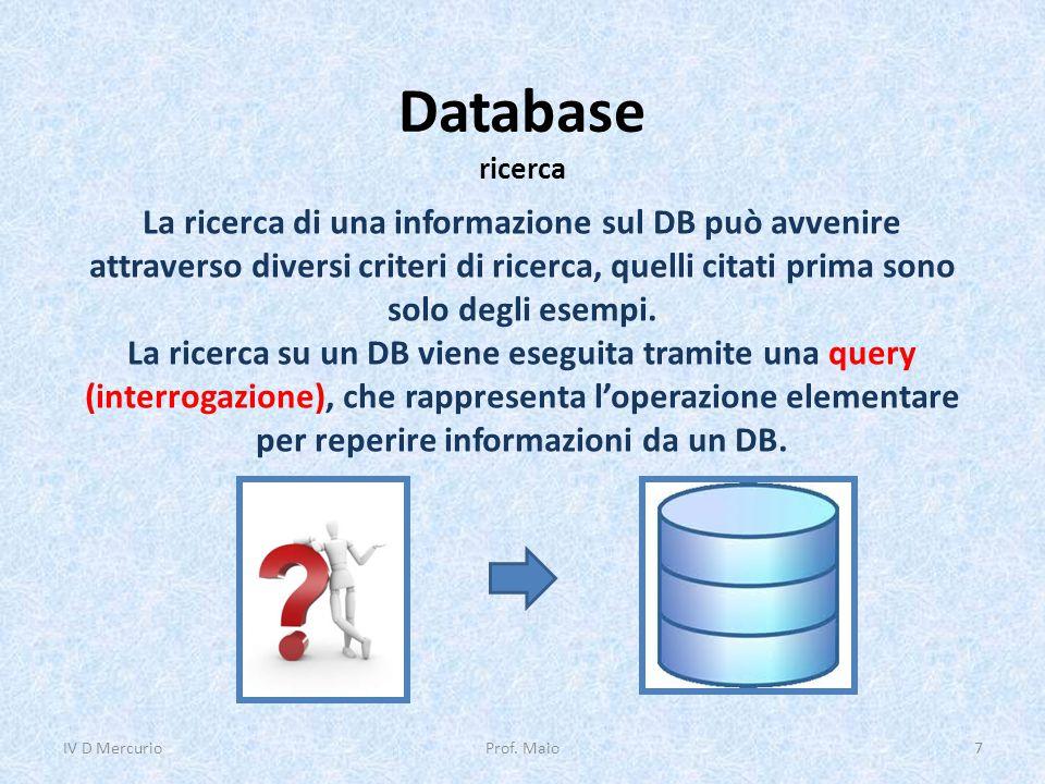Database ricerca