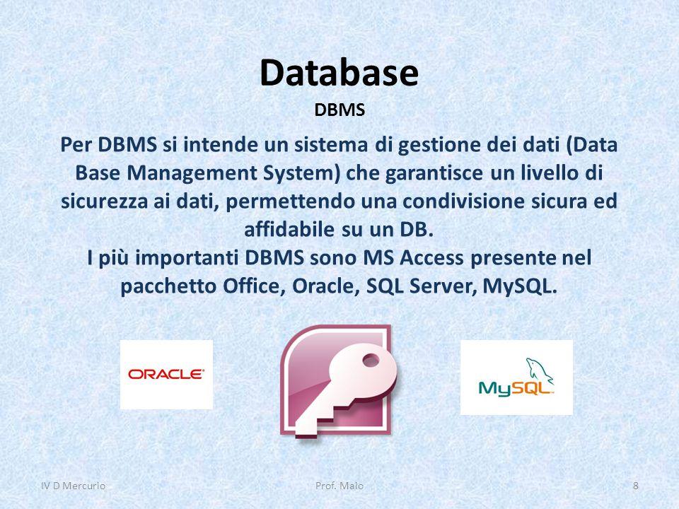 Database DBMS