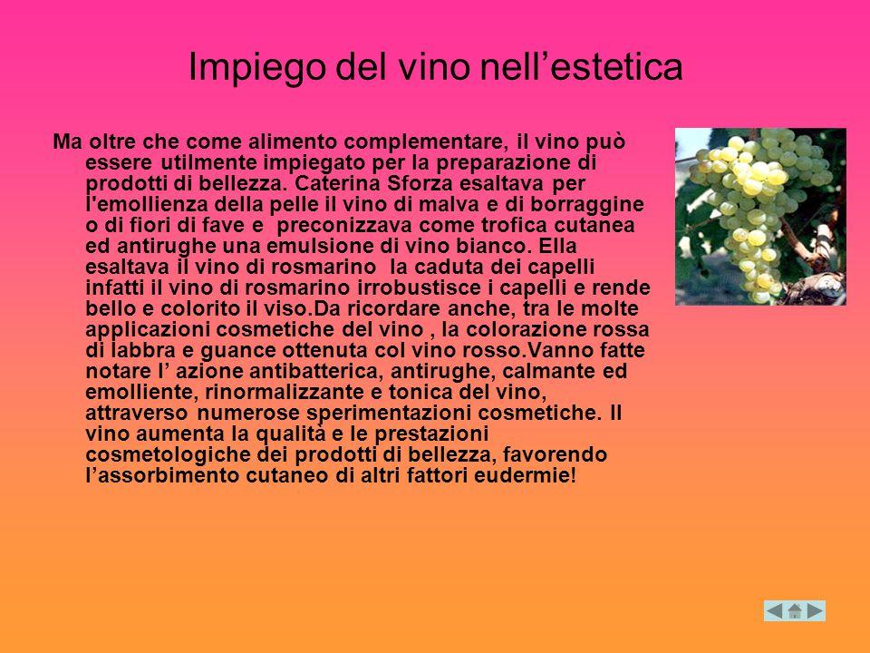 Impiego del vino nell'estetica