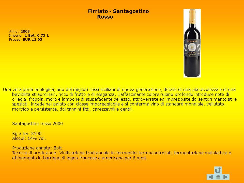 Firriato - Santagostino Rosso