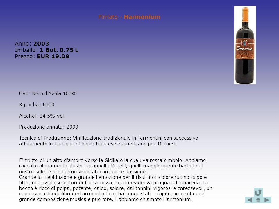 Anno: 2003 Imballo: 1 Bot. 0.75 L Prezzo: EUR 19.08