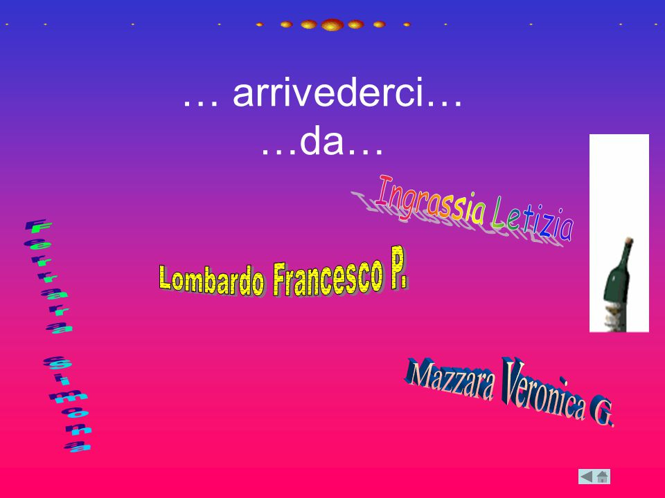 … arrivederci… …da… Ingrassia Letizia Lombardo Francesco P.