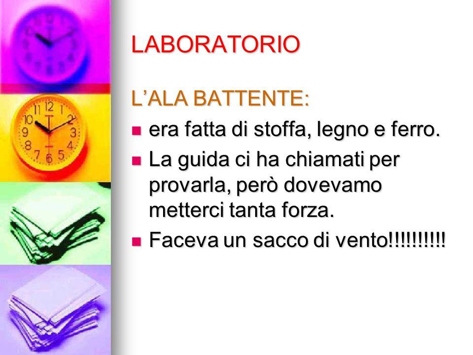 LABORATORIO L'ALA BATTENTE: era fatta di stoffa, legno e ferro.