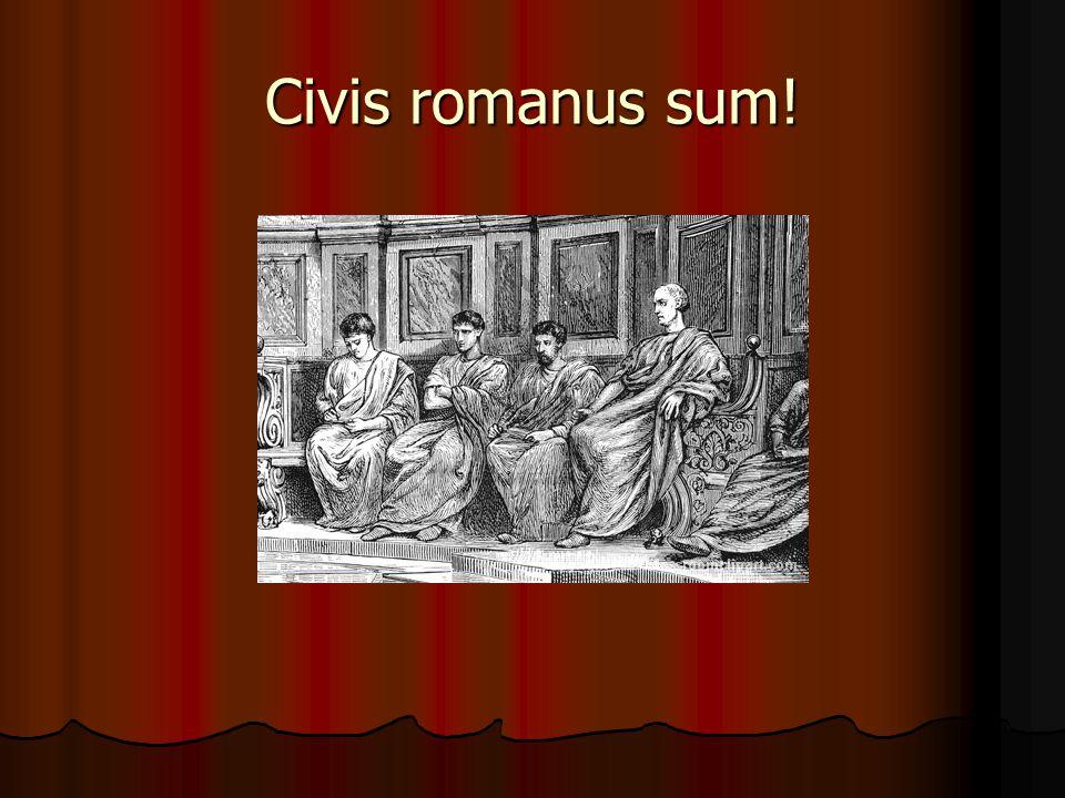 Civis romanus sum!