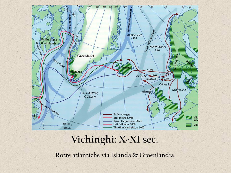 Rotte atlantiche via Islanda & Groenlandia