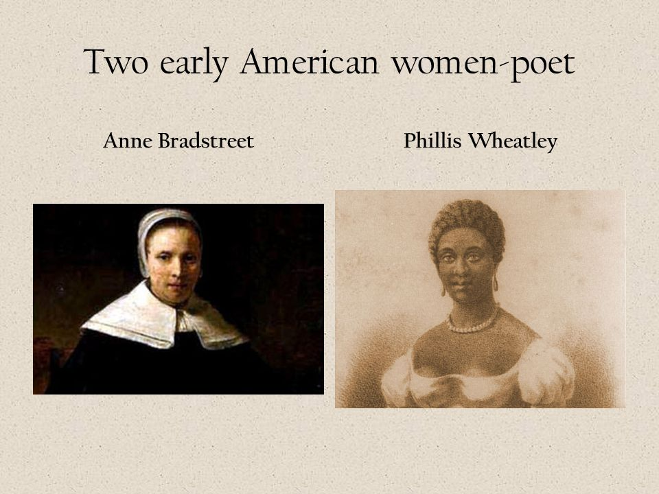 Two early American women-poet
