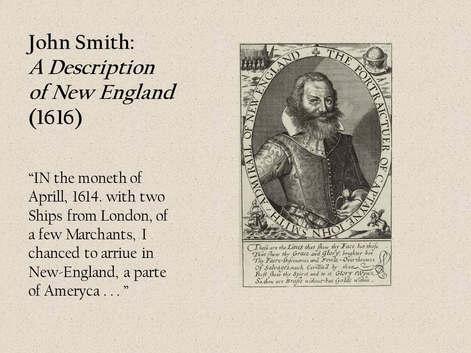 John Smith: A Description of New England (1616)