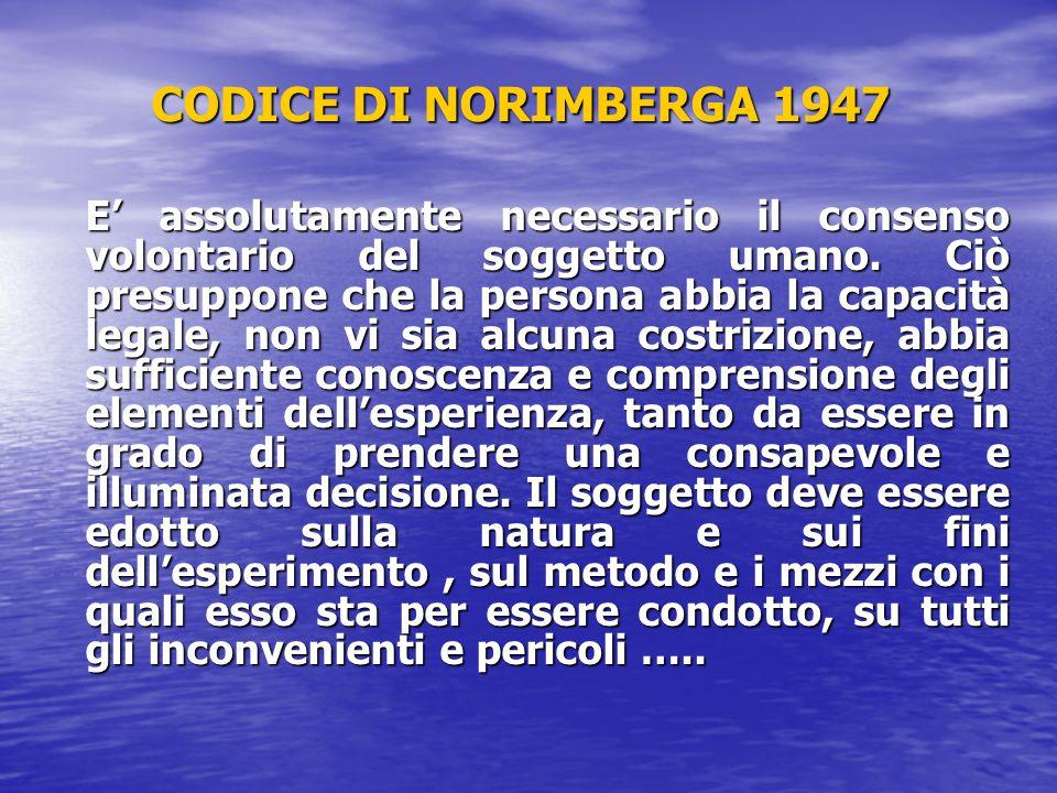 CODICE DI NORIMBERGA 1947
