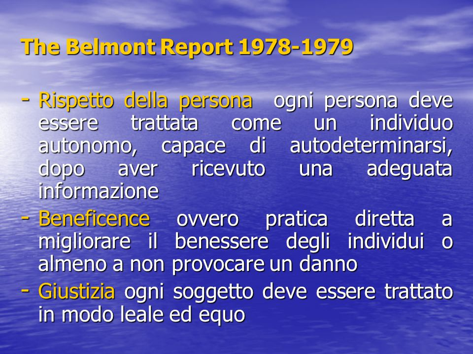 The Belmont Report 1978-1979