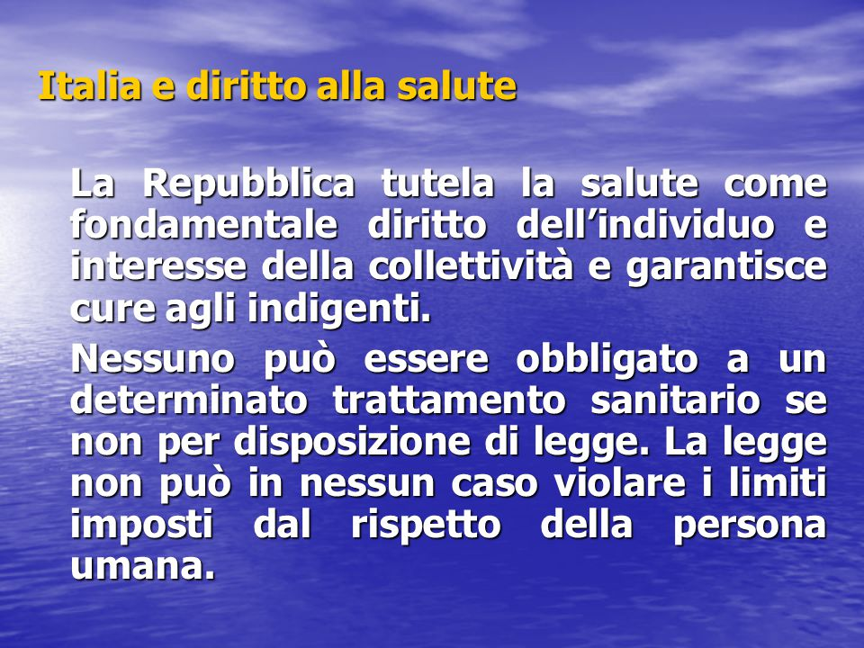Italia e diritto alla salute
