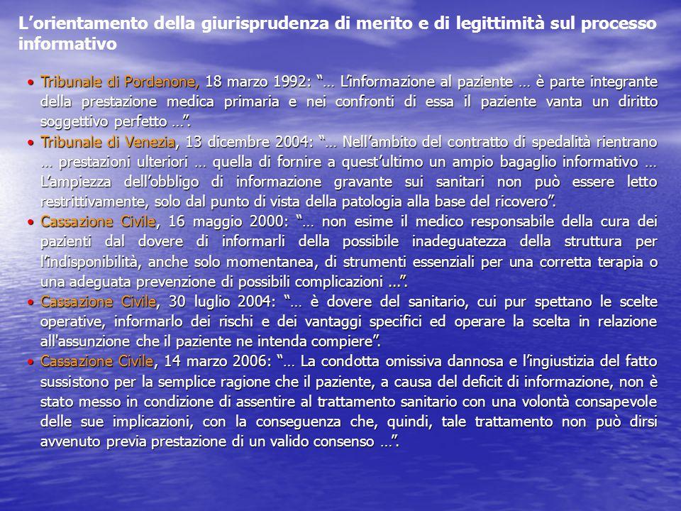 L'orientamento della giurisprudenza di merito e di legittimità sul processo informativo