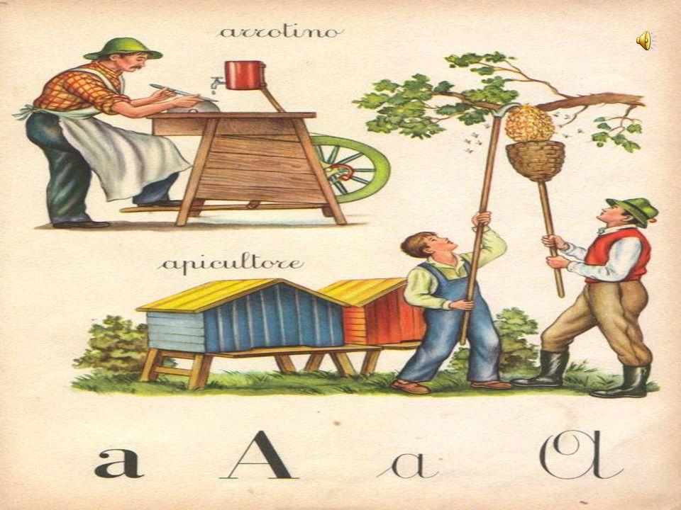 Negli abbecedari figurati ogni lettera o sillaba è in rapporto con un soggetto il cui nome inizia con la lettera stessa.