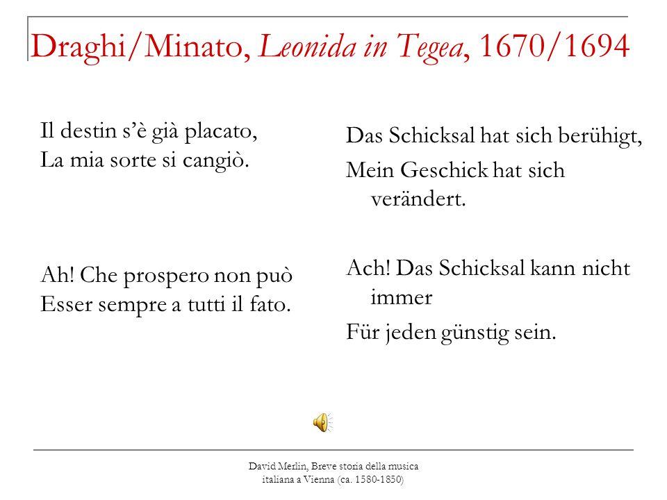 Draghi/Minato, Leonida in Tegea, 1670/1694