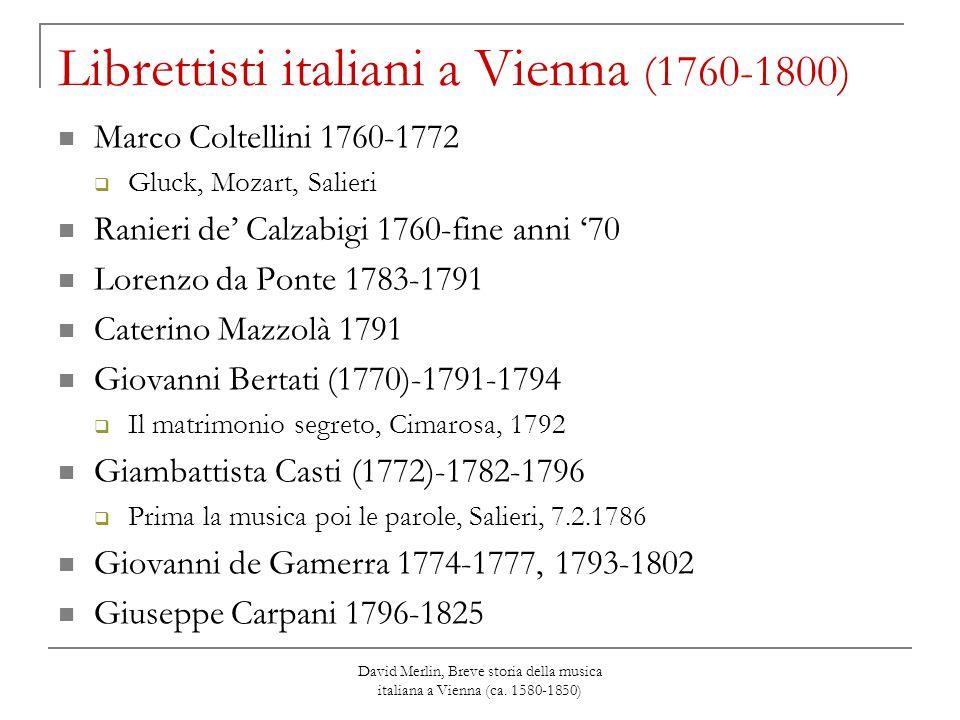 Librettisti italiani a Vienna (1760-1800)