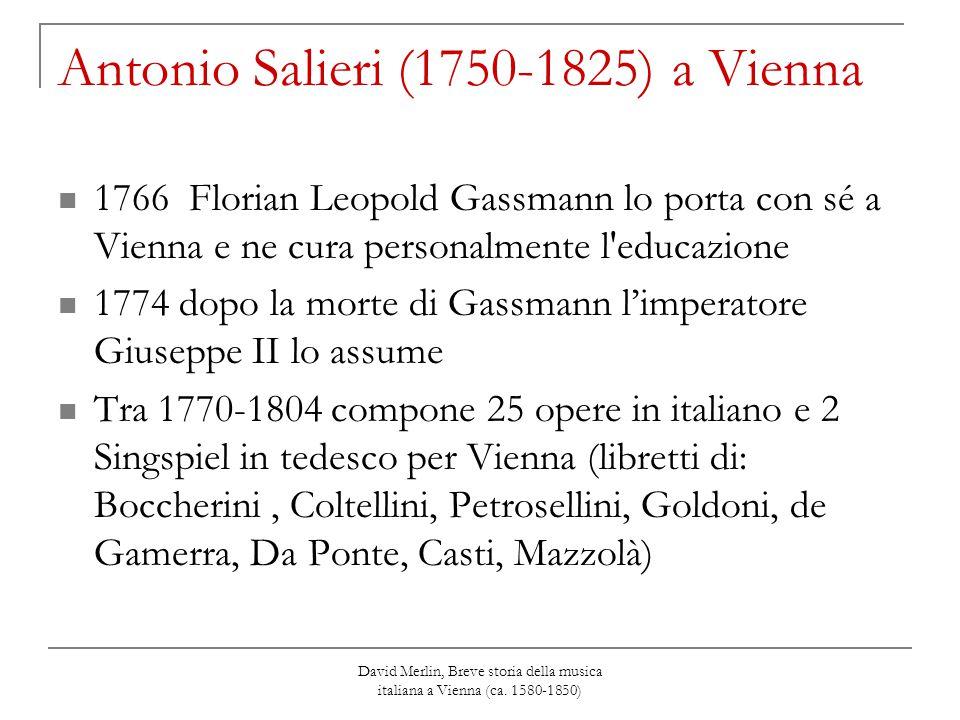 Antonio Salieri (1750-1825) a Vienna