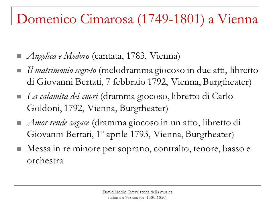 Domenico Cimarosa (1749-1801) a Vienna