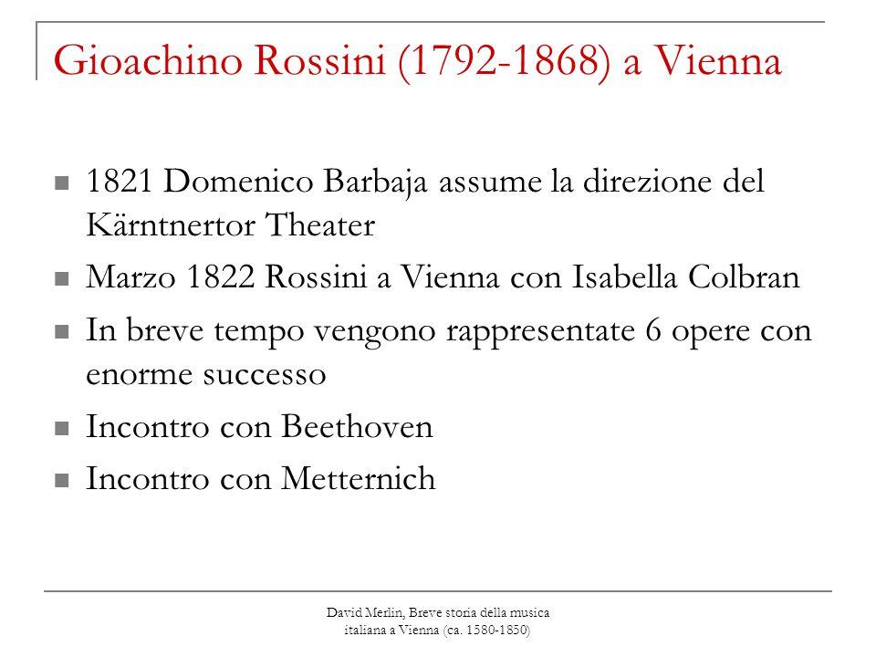 Gioachino Rossini (1792-1868) a Vienna