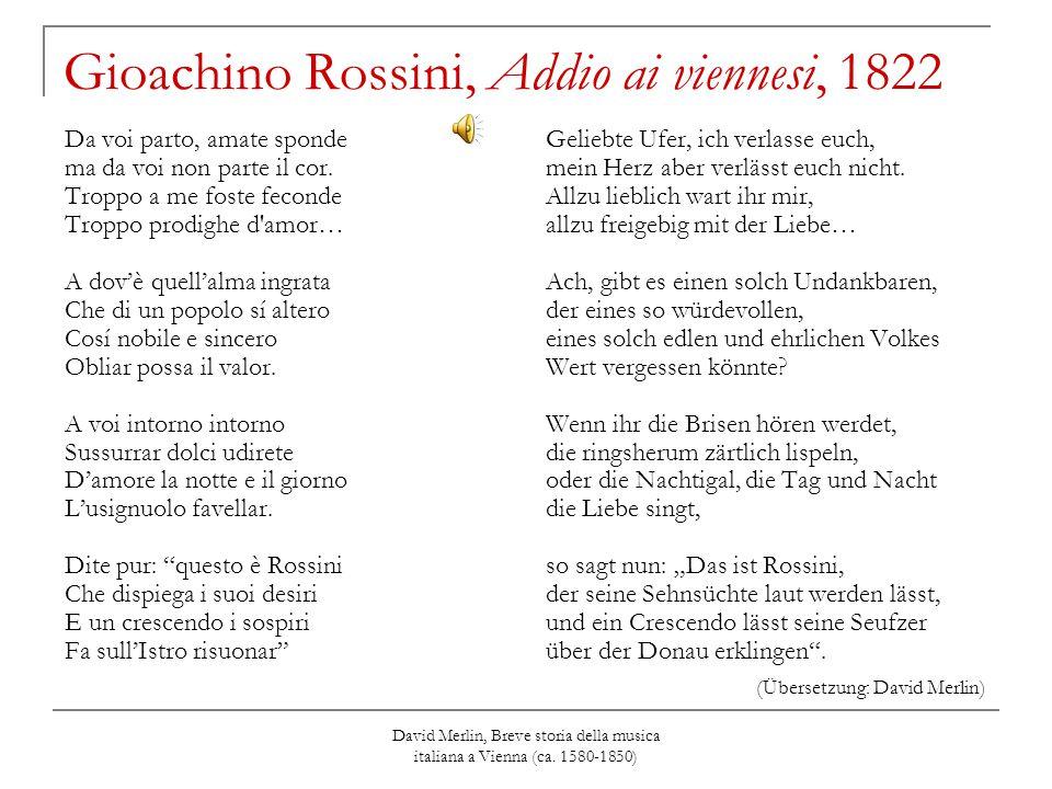 Gioachino Rossini, Addio ai viennesi, 1822