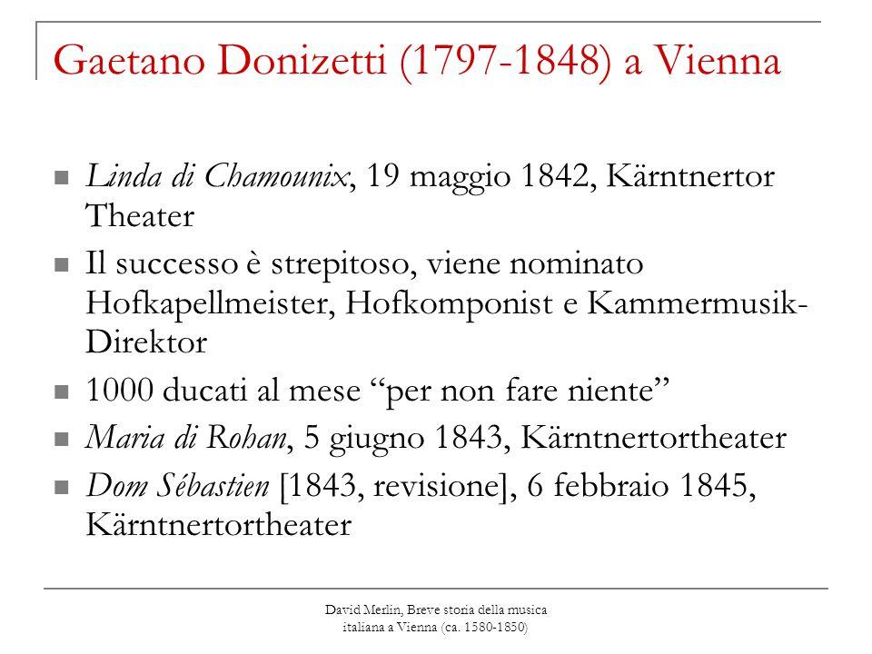 Gaetano Donizetti (1797-1848) a Vienna