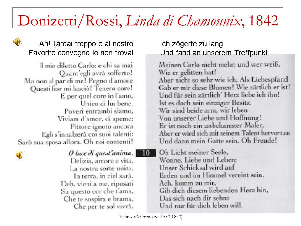 Donizetti/Rossi, Linda di Chamounix, 1842