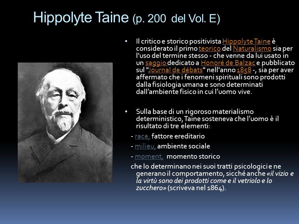 Hippolyte Taine (p. 200 del Vol. E)