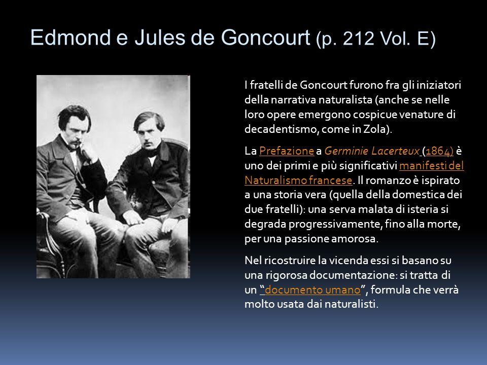 Edmond e Jules de Goncourt (p. 212 Vol. E)