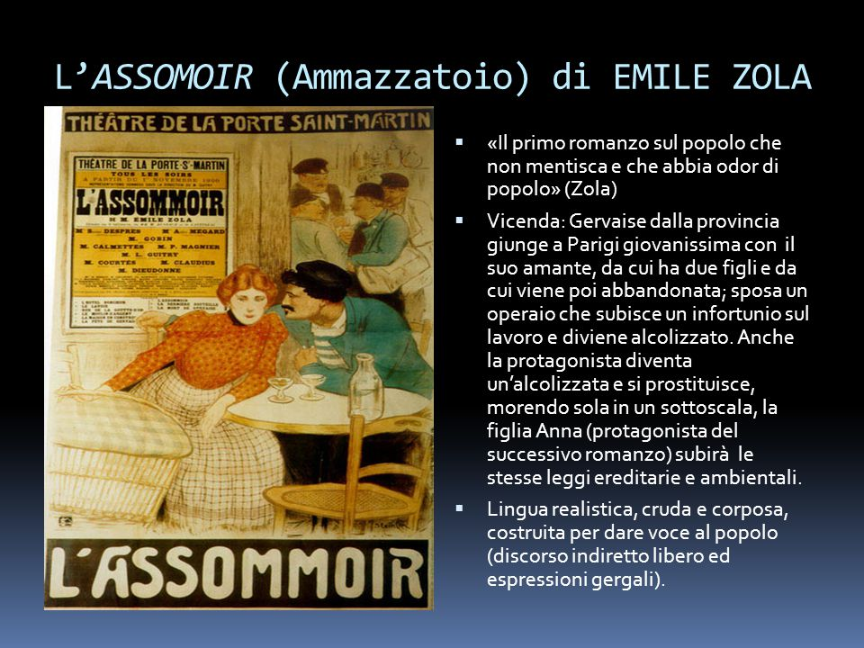 L'ASSOMOIR (Ammazzatoio) di EMILE ZOLA