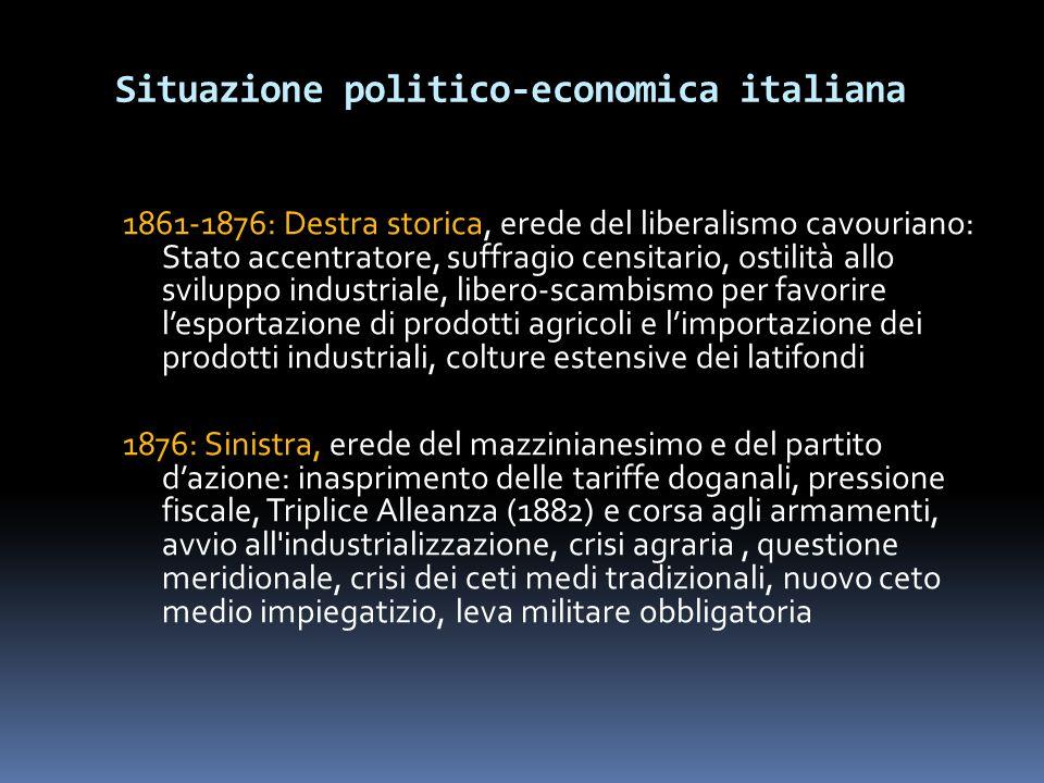 Situazione politico-economica italiana