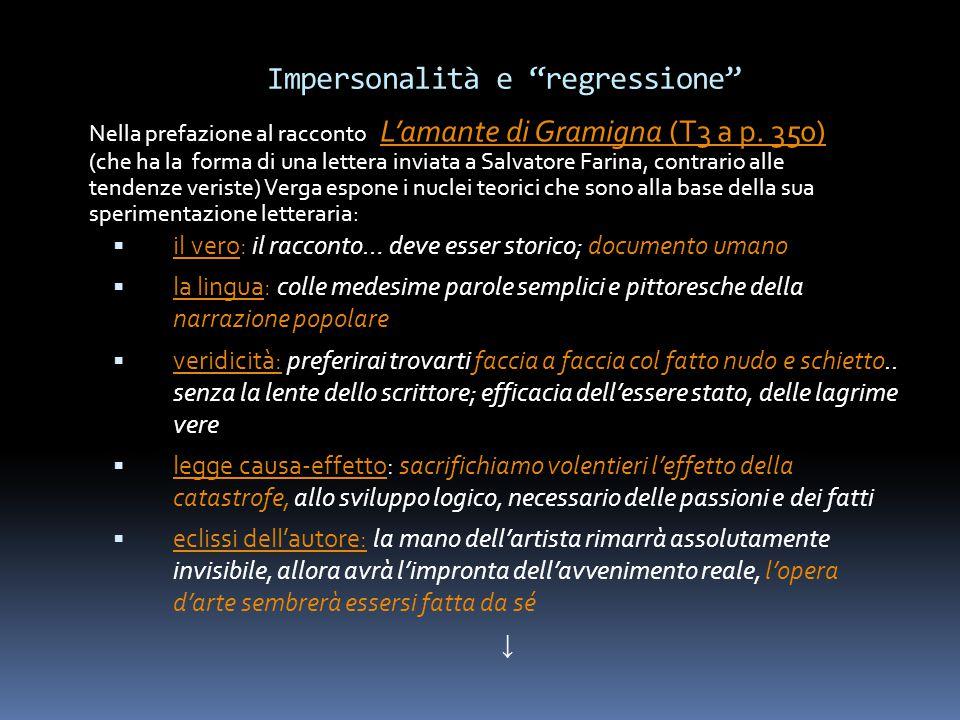 Impersonalità e regressione