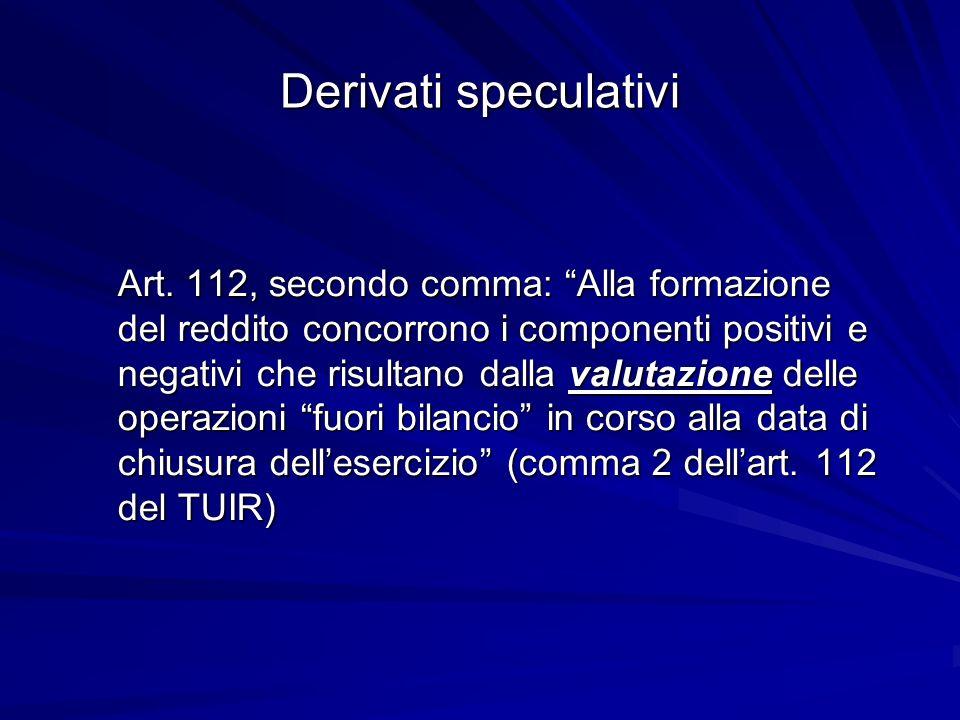 Derivati speculativi
