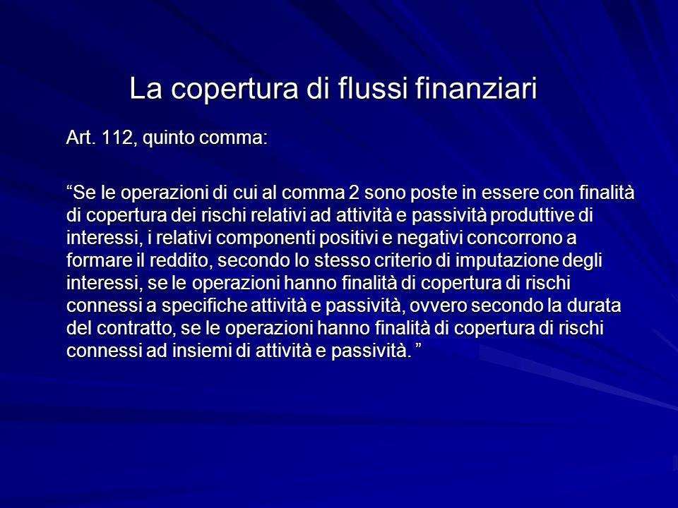 La copertura di flussi finanziari