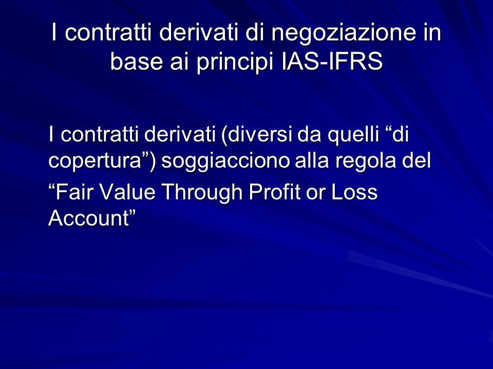 I contratti derivati di negoziazione in base ai principi IAS-IFRS