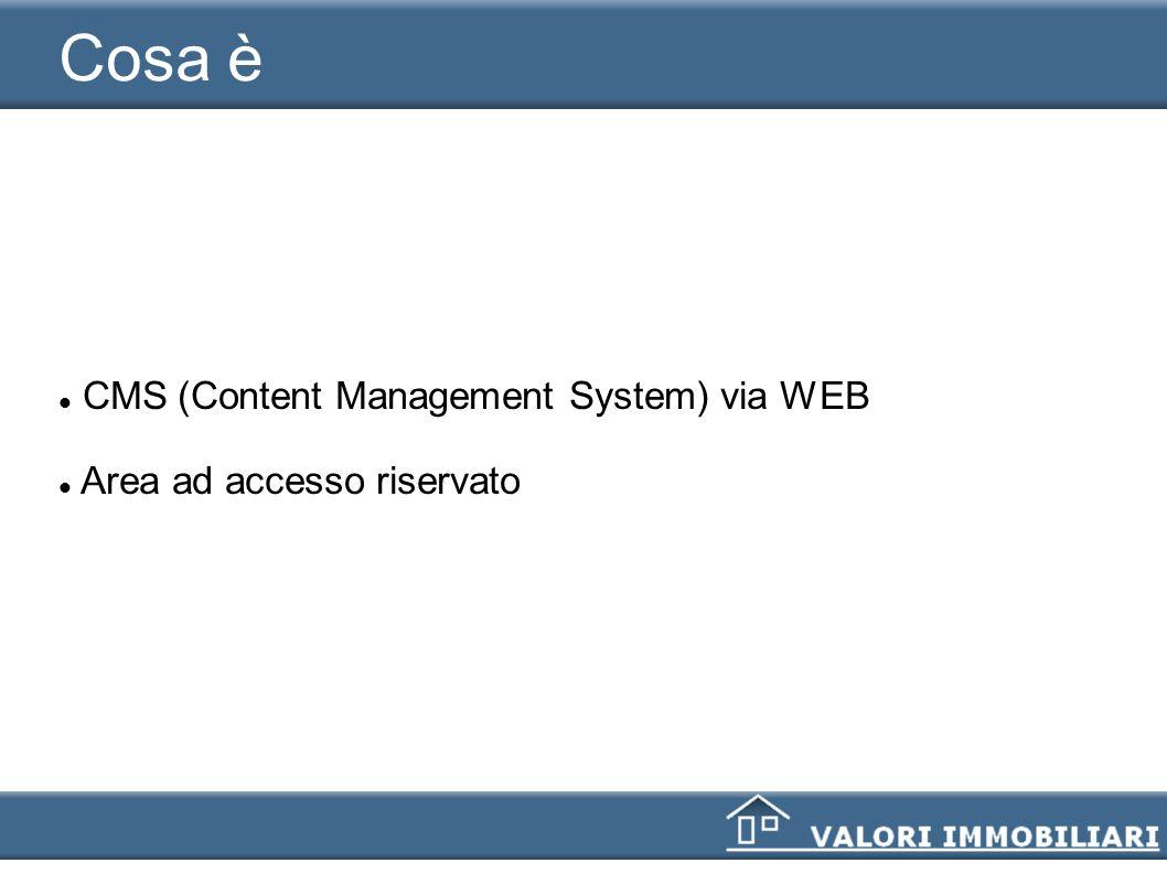 Cosa è CMS (Content Management System) via WEB