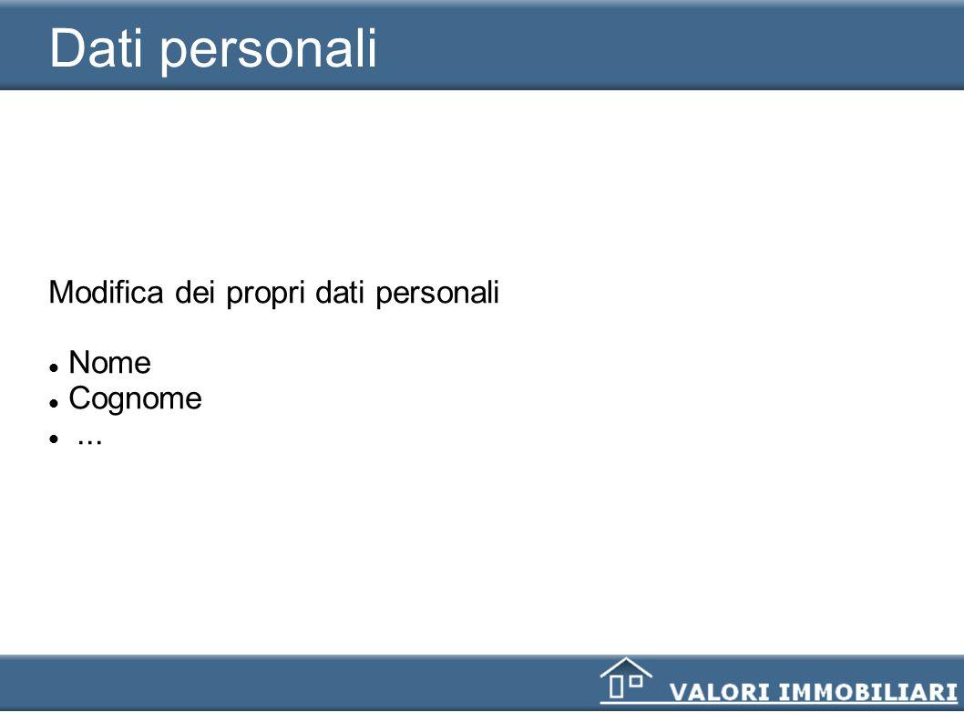 Dati personali Modifica dei propri dati personali Nome Cognome ... 9