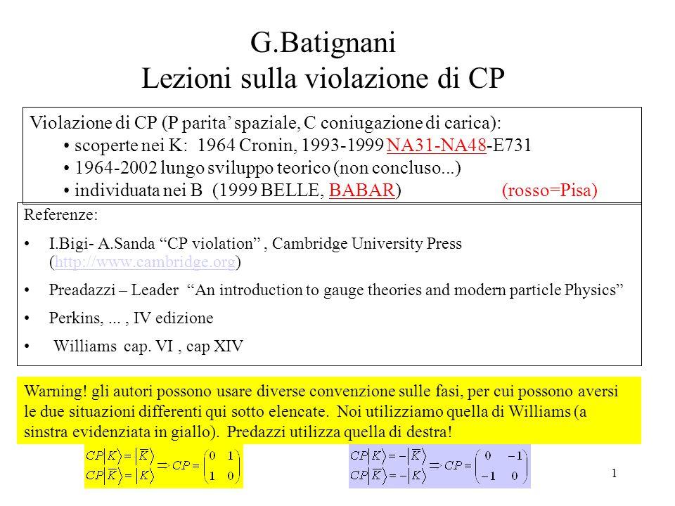 G.Batignani Lezioni sulla violazione di CP