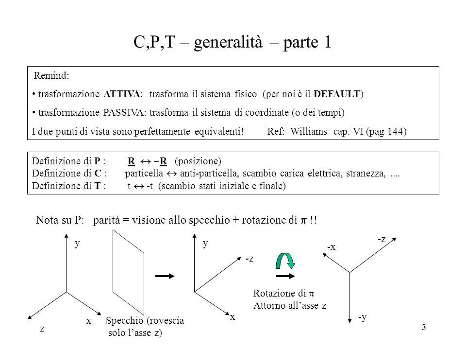 C,P,T – generalità – parte 1