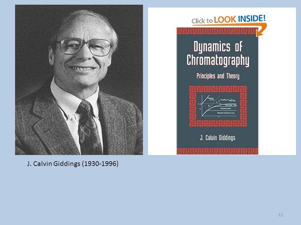 Giddings sviluppa ulteriormente la teoria della cromatografia ed inventa la field flow fractionation