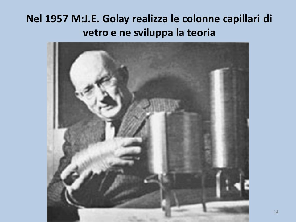 Nel 1957 M:J.E. Golay realizza le colonne capillari di vetro e ne sviluppa la teoria