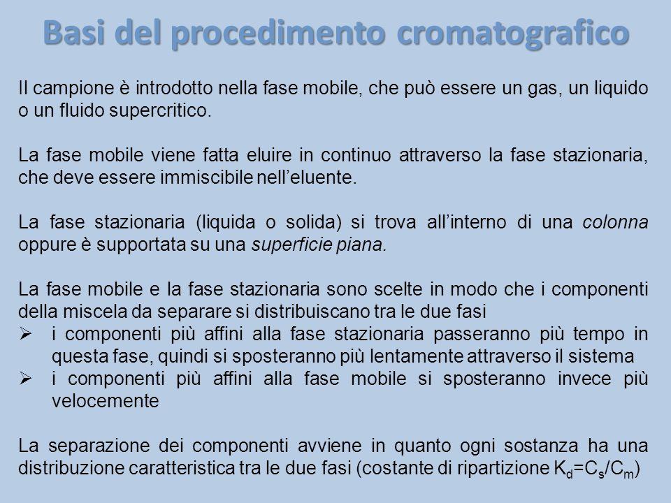 Basi del procedimento cromatografico