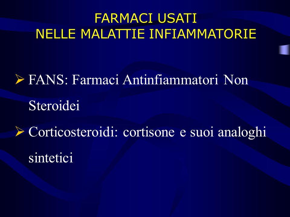 FARMACI USATI NELLE MALATTIE INFIAMMATORIE