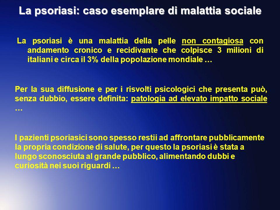 La psoriasi: caso esemplare di malattia sociale