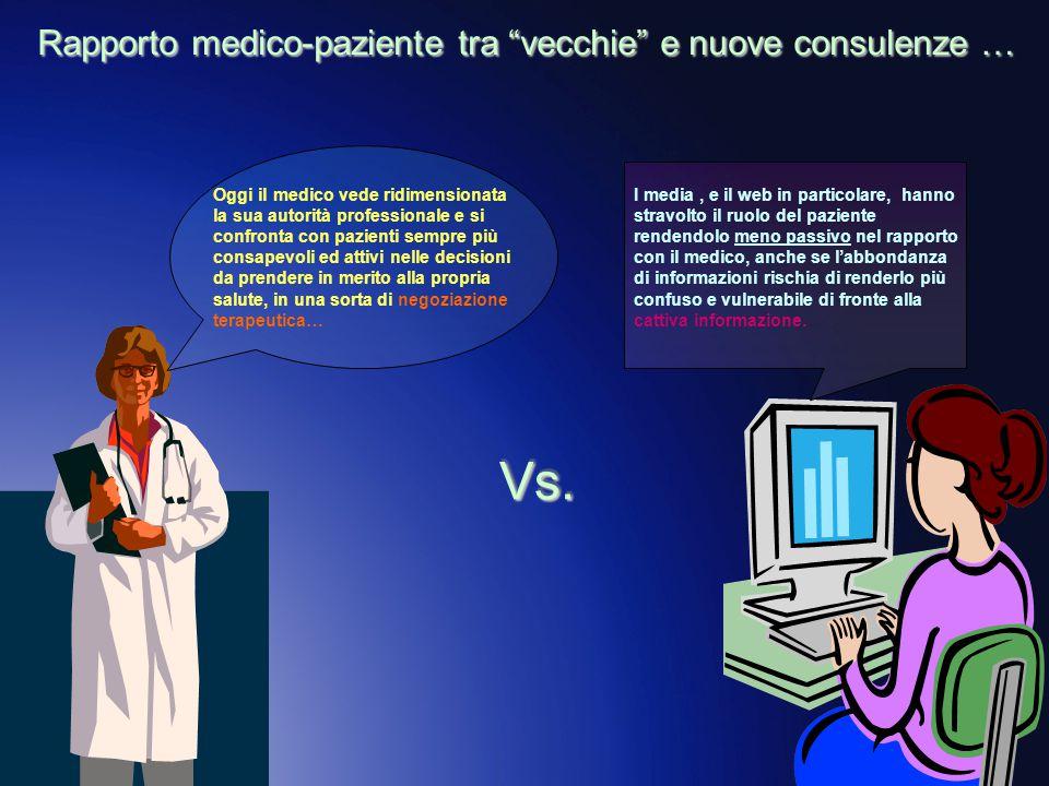 Rapporto medico-paziente tra vecchie e nuove consulenze …