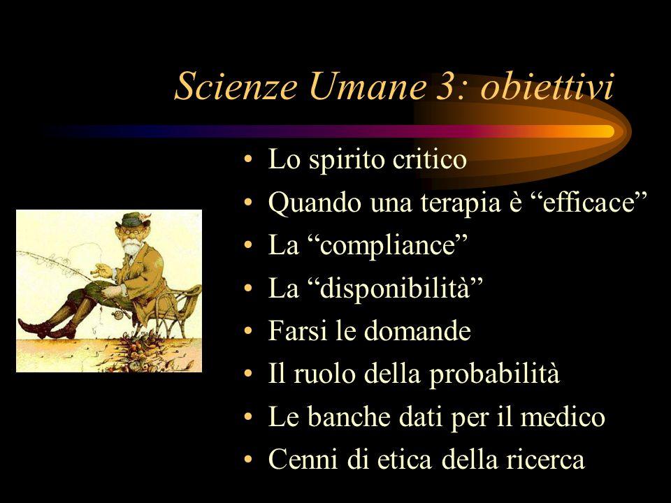 Scienze Umane 3: obiettivi