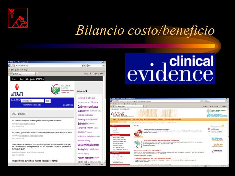 Bilancio costo/beneficio