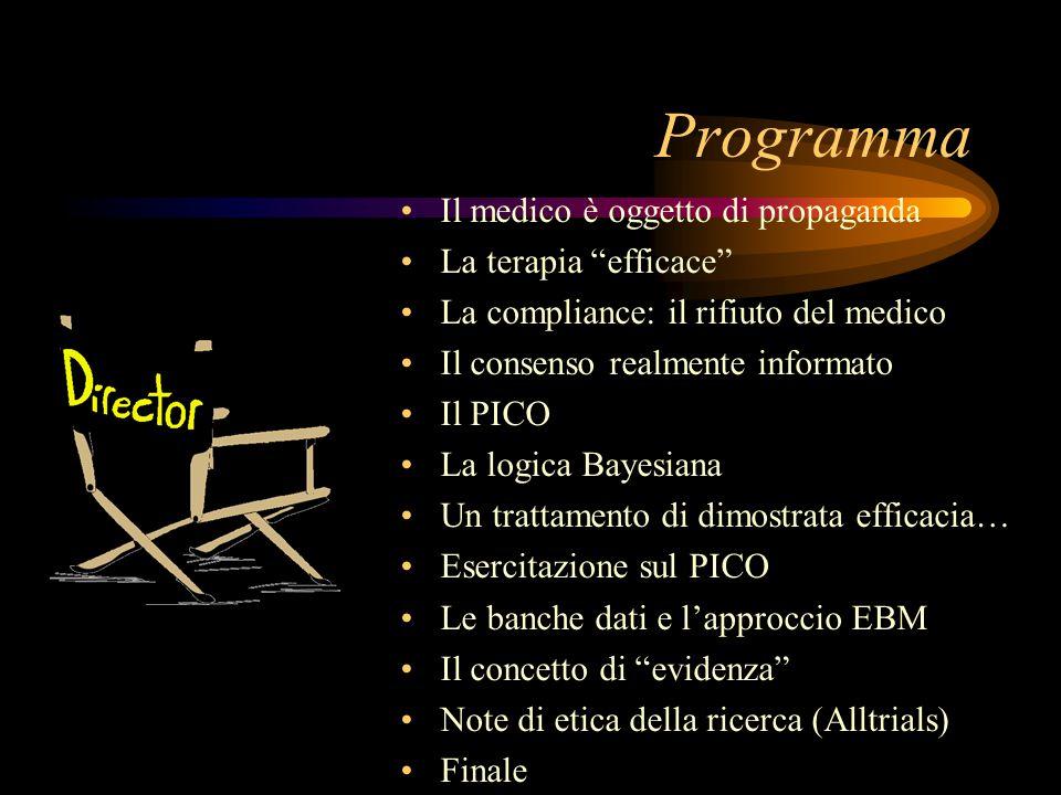 Programma Il medico è oggetto di propaganda La terapia efficace