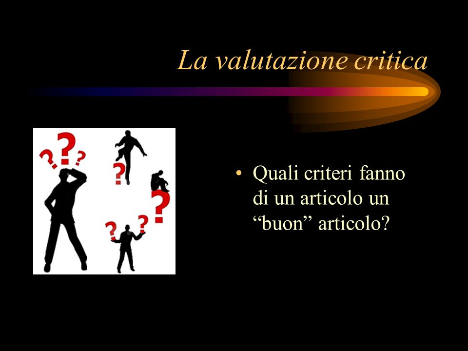 La valutazione critica