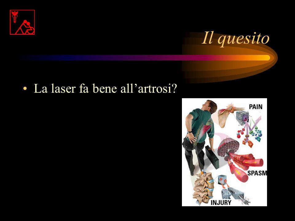 Il quesito La laser fa bene all'artrosi