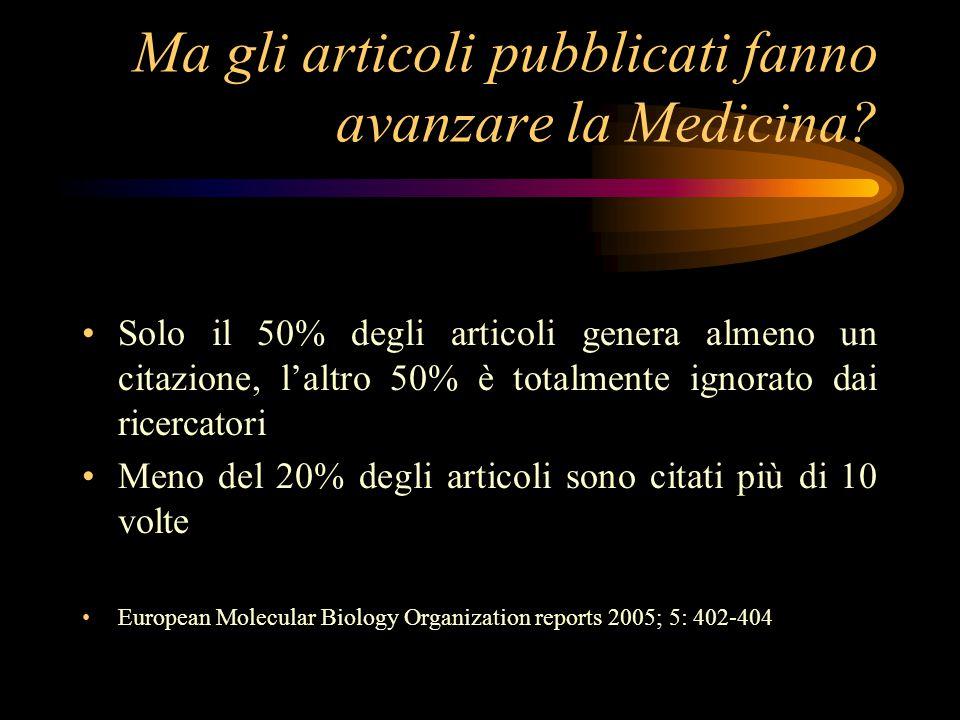 Ma gli articoli pubblicati fanno avanzare la Medicina