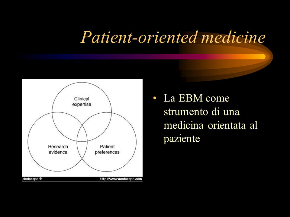 Patient-oriented medicine