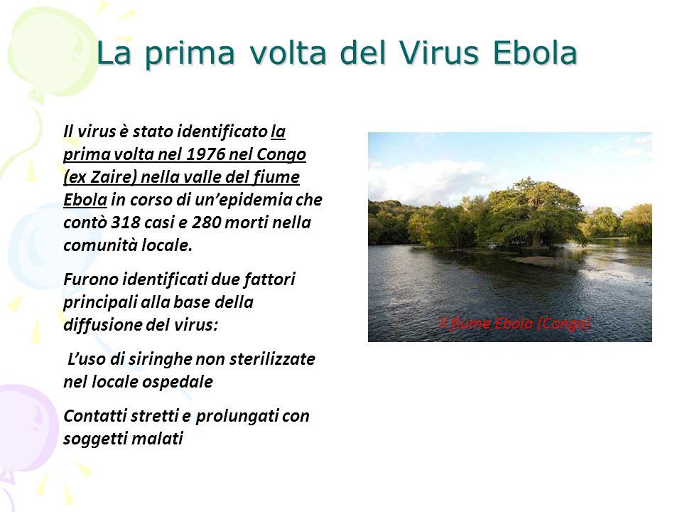 La prima volta del Virus Ebola